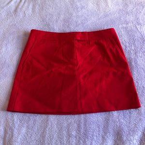 J. Crew Red Chino Skirt Size 6 NWT
